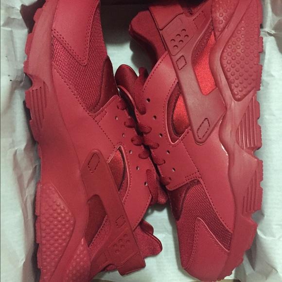 Hombres Nike Huarache De Triple Roja gZ9NSN