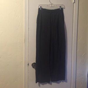 Gray wool Wide-Leg Trousers