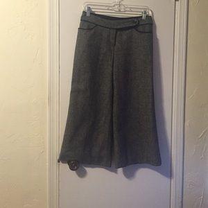 Black and white tweed Capri length pants
