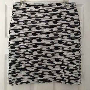 LOFT Black & White Mini Skirt