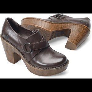 Born Bionca Shoes Clogs Mules Coffe Brown sz 9