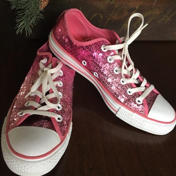f228a931734e Converse Shoes - Sale ending Sparkly Pink Converse Sequin Sneaker.