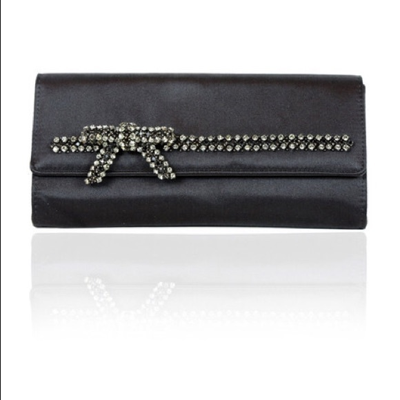 0375f90bc Gucci Bags | Black Rhinestone Satin Bow Clutch Purse | Poshmark