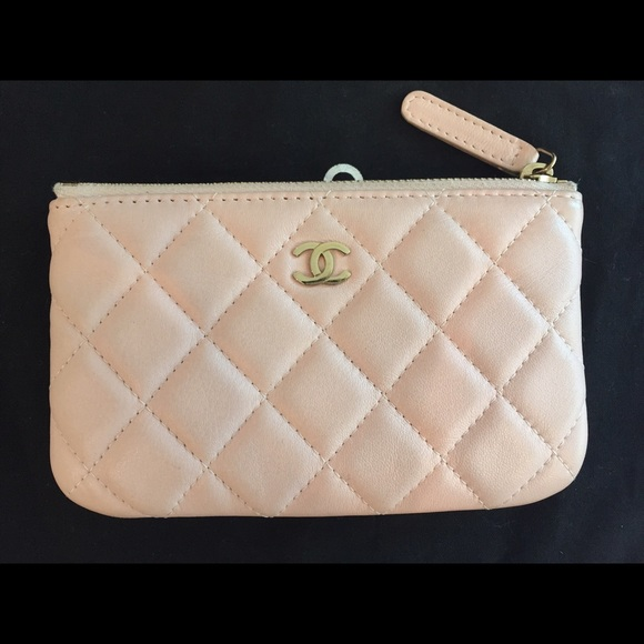 CHANEL Clutches   Wallets - Chanel baby pink small o case pouch card holder d502b61280