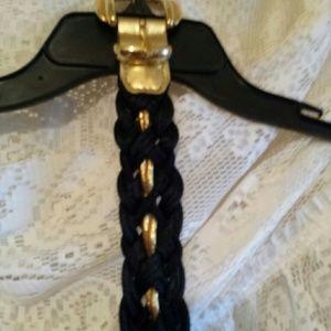 omega Accessories - Omega black sparkly gold belt.