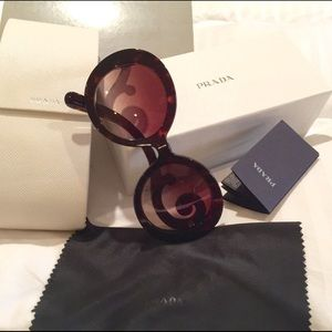 Prada Accessories - Prada Baroque 55mm Round Sunglasses