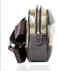 6a378980a47c Gucci Bags | Crystal Gg Belt Bag Purse In Brown And Beige | Poshmark