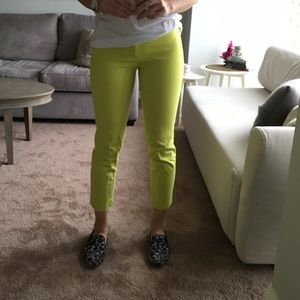 GAP Pants - Gap Bright Yellow Green Trousers