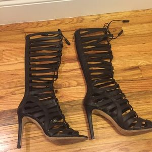 e65fbe54038b Vince Camuto Shoes - Vince Camuto- Olivian Lace Up Tall Gladiator Heel
