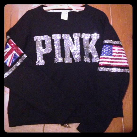 75% off PINK Victoria's Secret Sweaters - VS Pink London Crew Rare ...