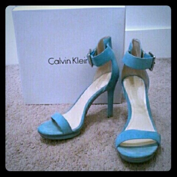 288f51c3a5b6 Calvin Klein Shoes -  DISCOUNTED  Calvin Klein Vivian Suede (teal)