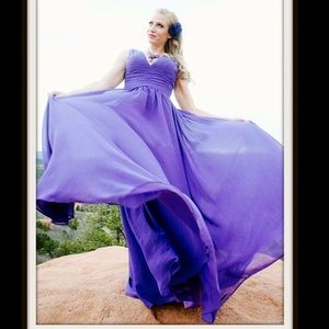 Dresses & Skirts - Long purple dress