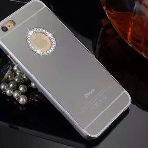 Silver diamond mirror case for iphone6 Christmas