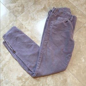 PRICE DROP J Crew Lavender Ankle Zip Cords Size 27