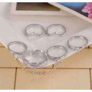 Midi mid knuckle rings