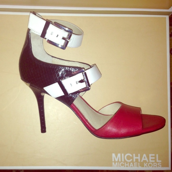 Red White And Black Heels