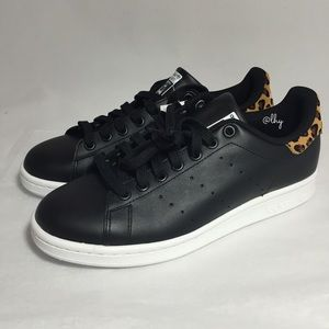 e9bfd6b78f5d46 Adidas Shoes - ADIDAS STAN SMITH LEOPARD TRIM SNEAKERS 8.5