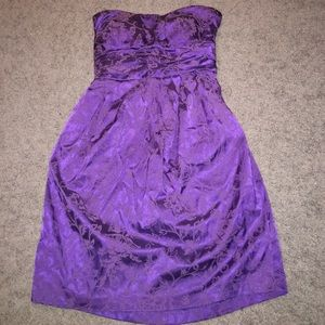 Snap Dresses & Skirts - Purple strapless dress never worn
