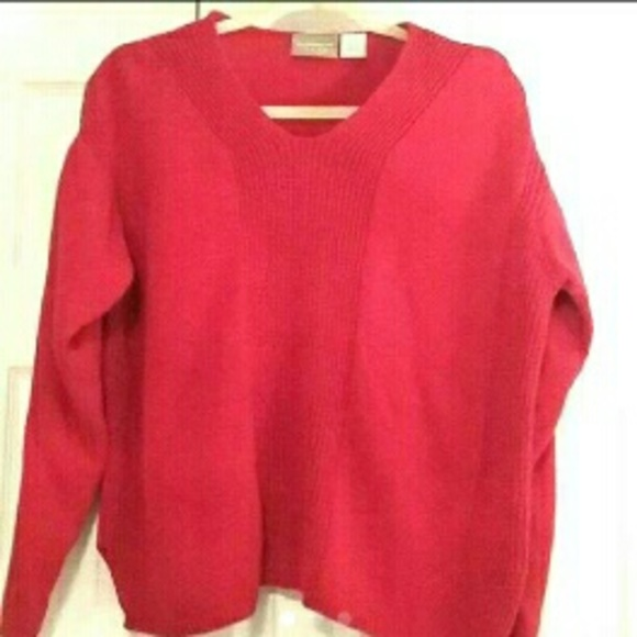 63% off Liz Claiborne Sweaters - Bright cherry red sweater from ...