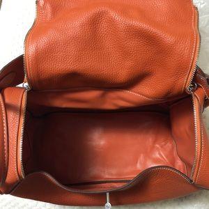 blue ostrich purse - Hermes - Orange Faux Leather Handbag from Amanda's closet on Poshmark
