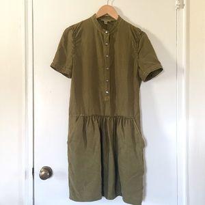 Burberry Dresses - Burberry Brit Green Mulberry Silk Dress