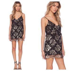 LIV Dresses & Skirts - Metallic Print Lace Dress