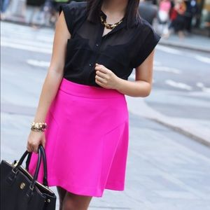 Express Skirts - PRICE DROP‼️ Hot Pink Flare Skirt