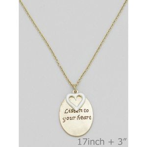 Jewelry - Listen to Your Heart Necklace