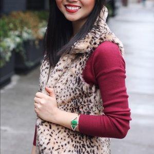 Zara Jackets & Coats - PRICE DROP‼️ Leopard Faux Fur Vest