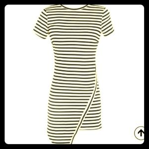 Dresses & Skirts - Striped Asymmetrical Dress- Size Large