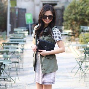 Lou & Grey Dresses - Price Drop‼️ Grid Print Shift Dress