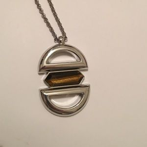 Long statement pendant necklace