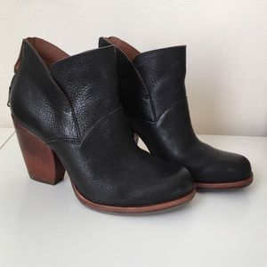 Leather Booties with Chunky Boot