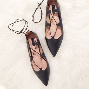 Topshop Shoes - Topshop Lace-up Flats