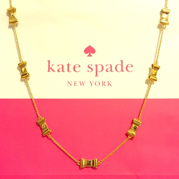 Kate Spade Pearl Bow Necklace: TAKE 17-40% OFF ☘️ Kate Spade ♠️ Gold Bow