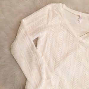 Sweaters - Fuzzy V-neck Sweater