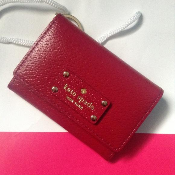 kate spade Bags - NWT Red Plum Kate Spade Darla Coin Purse Wallet