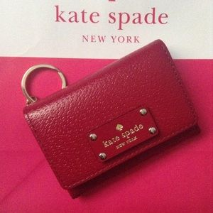 kate spade Handbags - NWT Red Plum Kate Spade Darla Coin Purse Wallet