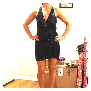 PARKER Navy blue sequin dress
