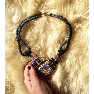 Anthropologie Bohemian Bib Necklace