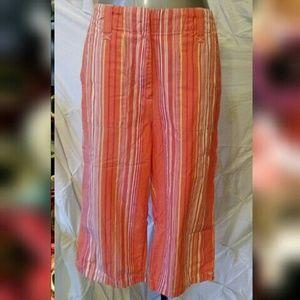 Van Heusen Pants - Striped Van Heusen capris shorts