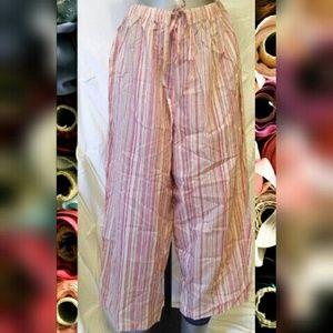 Cacique Other - Nwt pink/mauve striped pajama lounge capris pants