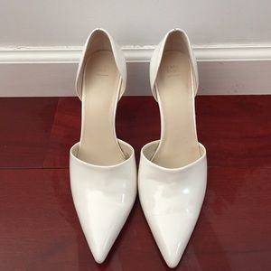 Zara white pointed vamp high heel