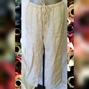 Eddie Bauer Pants - Eddie Bauer linen pants natural color