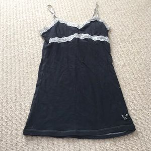 AE black and white lace cami