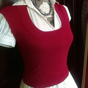 Express - 🌹 Express Red Cropped Sweater Vest 🌹 from ! ambassador ...