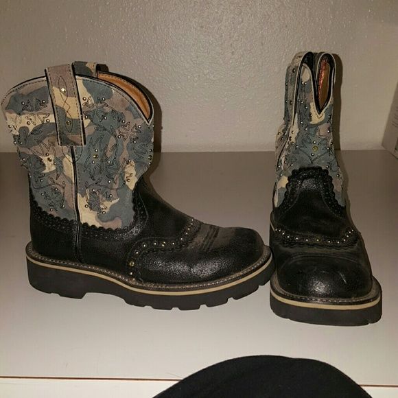 Ariat - Camo ariat fatbaby boots. from Trista's closet on Poshmark