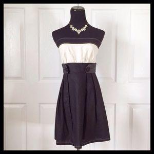 {Charlotte Russe} Black & Cream Dress