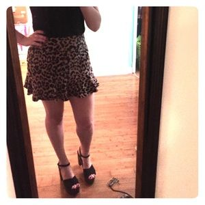 Urban outfitters leopard mini skirt