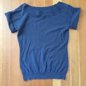 BR Dark teal blue short-sleeved sweater, size XS